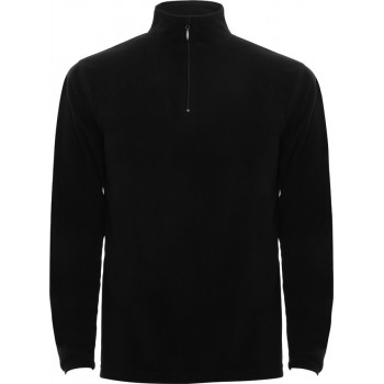 SWEAT MICROPOLAIRE DEMI ZIP HOMME MARQUAGE 1 COULEUR