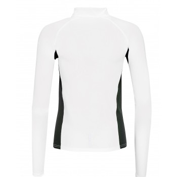 T-SHIRT RUNNING MANCHES LONGUES FEMME MARQUAGE 1 COULEUR